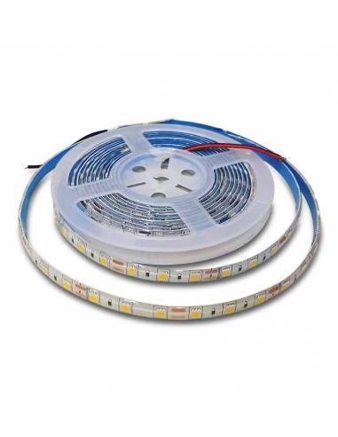 TIRA LED 24V, 5050 de 60LEDxMETRO, IP65 MONOCOLOR. Rollo de 5mts. corte cada 10cms.