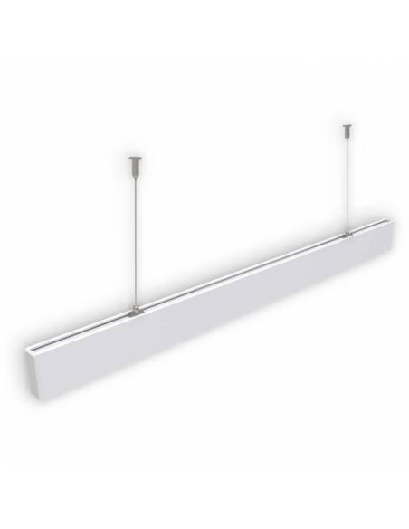 Luminaria LED lineal colgante o de supeficie, OFFICE 50W. De 120 cms. de largo.