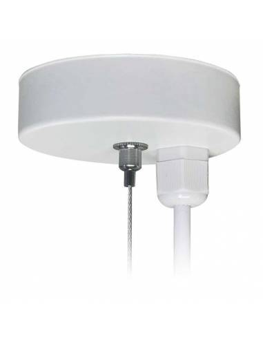 Base blanca tapa hilos para luminarias lineales LED, modelo OFFICE y MARKET.