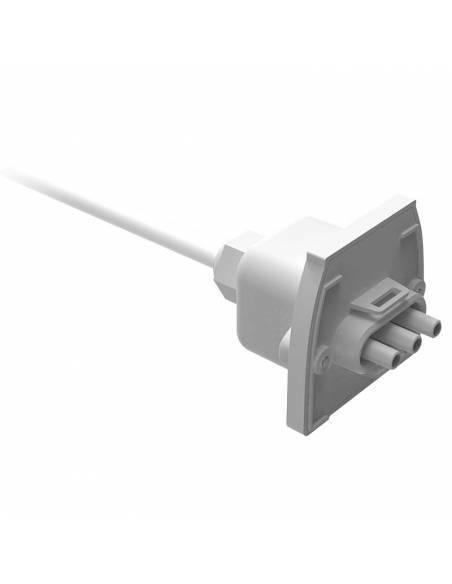 Alimentación, cable con tapa de cierre de luminaria led lineal MARKET.