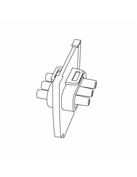 Pieza para conexión intermedia de luminarias led lineales MARKET. Dibujo técnico.