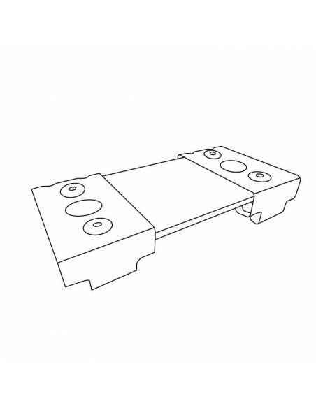 Soporte para reforzar la unión de luminarias led lineales del modelo MARKET. Dibujo técnico.