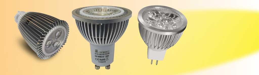 Bombillas de led, catálogo de tipos y clases de bombillas