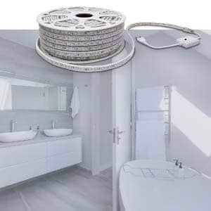 iluminar con led baños
